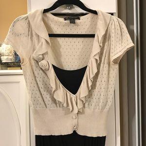 INC sweet short sleeve cropped cardigan